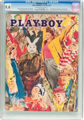 Magazines:Vintage, Playboy V2#10 (HMH Publishing, 1955) CGC NM 9.4 Off-white to white pages....