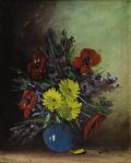 Texas:Early Texas Art - Impressionists, MARY MOTZ WILLS (1875-1961). Untitled Still Life. Oil on canvas. 20x 16 inches (50.8 x 40.6 cm). Signed lower right. ...