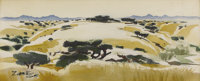 MILFORD ZORNES (b. 1908)The Golden Hill Watercolor on paper 9-1/2 x 22 inches (24.1 x 55.9 cm)
