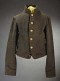 Military & Patriotic:Civil War, THE CONFEDERATE OFFICER'S SHELL JACKET OF CAPTAIN JOHN A. WEST CHIEF ARTILLERY ON GERERAL TAYLORS' STAFF....