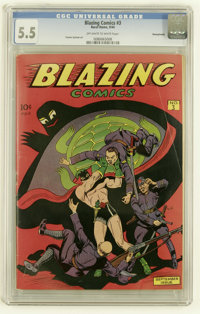Blazing Comics #3 Pennsylvania pedigree (Rural Home, 1944) CGC FN- 5.5 Off-white to white pages