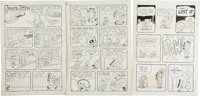 """Sheldon Mayer - Complete 13-page Sugar & Spike Story """"The Hiding Place"""" Original Art (DC, 1983)... (Total:..."""