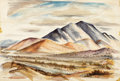 Texas:Early Texas Art - Regionalists, LLOYD GOFF (1908-1982). Rio Grande Valley/Lower Manhattan,1940. Watercolor on paper. 15-1/4 x 22-1/4 inches (38.7 x 56....