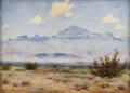 Texas:Early Texas Art - Regionalists, EUGENE THURSTON (1896-1993). Van Horn Mountains, 1930s to1940s. Oil on artistboard. 12 x 16 inches (30.5 x 40.6 cm). Si...
