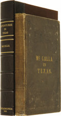 Books:Non-fiction, William L. McCalla: Adventures in Texas, Chiefly in the Springand Summer of 1840;. ...