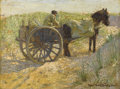 Fine Art - Painting, American:Modern  (1900 1949)  , ROBERT DAVID GAULEY (American 1875-1943). Horse withCarriage, 1902. Oil on board. 12 x 16 inches (30.5 x 40.6 cm).Sign...