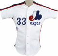 Baseball Collectibles:Uniforms, 1983 Mike Vail Game Worn Jersey. The 1975 International League Player of the Year Mike Vail is represented here by his home...