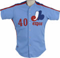 Baseball Collectibles:Uniforms, 1984 Joe Kerrigan Game Used Jersey. Beautiful light blue Rawlings jersey was worn by the Montreal Expos coach Joe Kerrigan ...