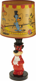 Toys:Miscellaneous, Huckleberry Hound Lamp with Shade (Hanna-Barbera, 1960). ...