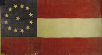 JEFFERSON DAVIS: FIRST NATIONAL PATTERN CONFEDERATE FLAG THAT FLEW OVER HIS HOME, BEAUVOIR