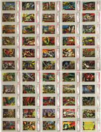 Mars Attacks Trading Cards Complete PSA-Certified Set of 55 (Topps, 1962) .... (Total: 55 Items)