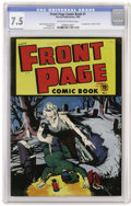 Golden Age (1938-1955):Horror, Front Page Comic Book #1 (Harvey, 1945) CGC VF- 7.5 Off-white towhite pages....