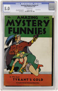 Golden Age (1938-1955):Science Fiction, Amazing Mystery Funnies V1#1 (Centaur, 1938) CGC VG/FN 5.0Off-white pages....