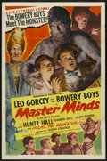 """Movie Posters:Horror, Master Minds (Monogram, 1949). One Sheet (27"""" X 41""""). Comedy. ..."""