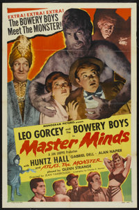 "Master Minds (Monogram, 1949). One Sheet (27"" X 41""). Comedy"