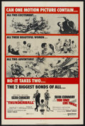 "Movie Posters:James Bond, Thunderball/You Only Live Twice Combo (United Artists, 1970). OneSheet (27"" X 41""). James Bond. ..."