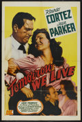 "Movie Posters:Adventure, Tomorrow We Live (Producers Releasing Organization, 1942). OneSheet (27"" X 41""). Adventure. ..."
