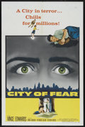 """Movie Posters:Thriller, City of Fear (Columbia, 1959). One Sheet (27"""" X 41""""). Thriller. ..."""