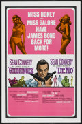 "Movie Posters:James Bond, Goldfinger/Dr. No Combo (United Artists, R-1966). One Sheet (27"" X41""). James Bond. ..."