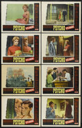 """Movie Posters:Hitchcock, Psycho (Paramount, R-1965). Lobby Card Set of 8 (11"""" X 14"""").Hitchcock. ... (Total: 8 Items)"""