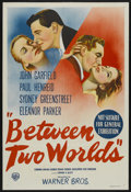 """Movie Posters:Mystery, Between Two Worlds (Warner Brothers, 1944). Australian One Sheet (27"""" X 40""""). Mystery. ..."""