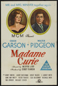 "Movie Posters:Drama, Madame Curie (MGM, 1943). Australian One Sheet (27"" X 40""). Drama. ..."