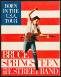 "Movie Posters:Rock and Roll, Bruce Springsteen and the E Street Band: Born in the U.S.A. Tour(T-Shirt Merchandise, 1984). Tour Program (28 Pages, 11"" X ..."
