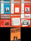 "Movie Posters:Miscellaneous, Showmen's Trade Review & Others Lot (Showmen's Trade Review,1937/1938/1954). Magazines (7) (Multiple Pages, 9.5"" X 12.5""). ...(Total: 7 Items)"