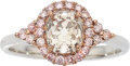 Estate Jewelry:Rings, Colored Diamond, Gold Ring. . ...
