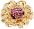 Estate Jewelry:Rings, Ruby, Gold Ring. . ...
