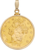 Estate Jewelry:Pendants and Lockets, U.S. $20 Gold Coin, Gold Pendant. . ...