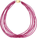 Estate Jewelry:Necklaces, Ruby, Gold, Necklace. ...