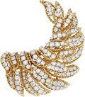 Estate Jewelry:Brooches - Pins, Diamond, Gold Brooch. . ...