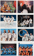 Explorers:Space Exploration, NASA Mission Crew Color Lithograph Prints, Collection ofEighty-Eight, from Apollo 8 through STS-117. ...