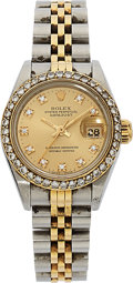 Estate Jewelry:Watches, Lady's Diamond, Two Tone Oyster Perpetual Datejust Watch. ...