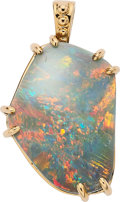 Estate Jewelry:Pendants and Lockets, Opal, Gold Pendant. ...