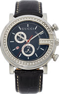 Estate Jewelry:Watches, Gucci Gentleman's Diamond, Stainless Steel G-Chronograph Watch. ...
