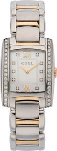 Estate Jewelry:Watches, Ebel Lady's Diamond, Two Tone Brasilia Watch. ...