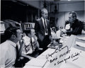 Autographs:Celebrities, Apollo 13 Mission Control Photo Signed by Gerry Griffin and GlynnLunney, with Photographic Provenance. ...