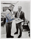 Autographs:Celebrities, Gene Cernan Signed Photo, Pictured with Buzz Aldrin. ...