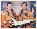 Autographs:Celebrities, Space Shuttle Columbia (STS-1) Crew-Signed Color Photo....