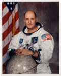 Autographs:Celebrities, Tom Stafford Signed Apollo 10 White Spacesuit Color Photo....