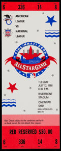 Baseball Collectibles:Tickets, 1988 Major League Baseball All Star Game Full Ticket....