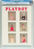 Magazines:Vintage, Playboy V5#8 Newsstand Edition (HMH Publishing, 1958) CGC NM+ 9.6 White pages....