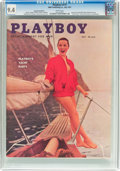 Magazines:Vintage, Playboy V4#7 Newsstand Edition (HMH Publishing, 1957) CGC NM 9.4 White pages....