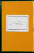 "Miscellaneous Collectibles:General, Jimmy Carter Signed ""Why Not the Best?"" Hardcover Book...."