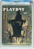 Magazines:Vintage, Playboy V2#5 Newsstand Edition (HMH Publishing, 1955) CGC VF+ 8.5 White pages....