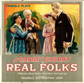 "Movie Posters:Comedy, Real Folks (Triangle, 1918). Six Sheet (80"" X 82"").. ..."
