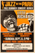 Music Memorabilia:Posters, Little Richard Jazz In The Park Concert Poster (1968)....