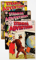 Silver Age (1956-1969):Science Fiction, Strange Adventures Group of 70 (DC, 1955-62) Condition: VG/FN....(Total: 70 Comic Books)